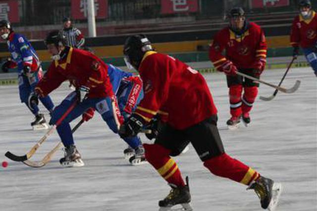 冰上挥杆pk 中俄大学生来一场冰雪运动趴