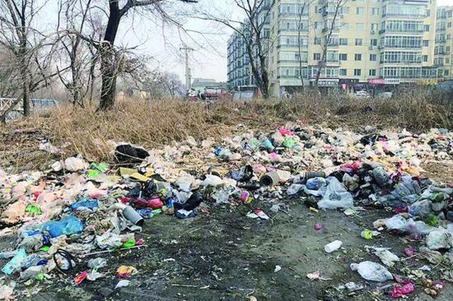 """哈市香坊区千余平方米空地变""""垃圾场"""" 半年无人"""