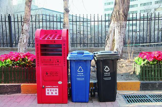 回收电池杀虫剂 哈市20个小区投用有毒有害分类垃圾箱