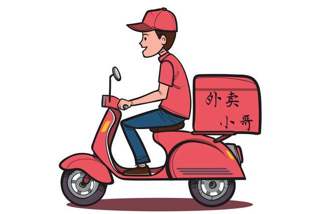 外卖小哥骑摩托闯红灯送男童就医 温暖了整个城市