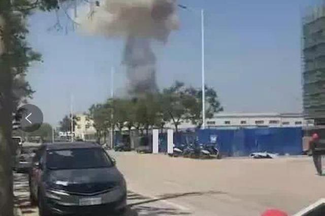安徽省宿州一制药厂爆炸起火 致3人受伤