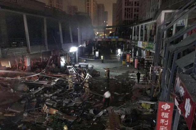 杭州万达金街发生爆燃 初判系瓶装煤气泄漏引发