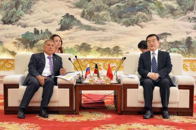 张庆伟会见俄鞑靼斯坦共和国行政长官明尼哈诺夫