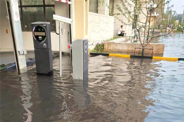 暴雨过后哈市群力崂山路积水半米 现已恢复通车