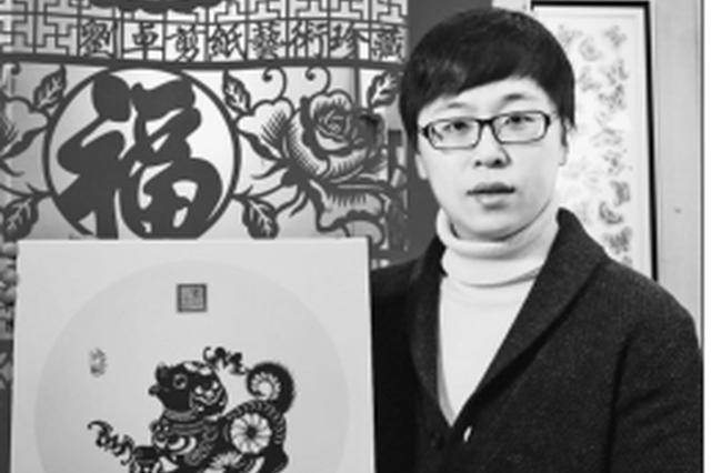 绥化学院剪纸艺术工作室刘卓 让传统剪纸由平面变立体