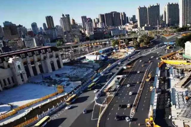 哈站南广场工程收尾 日分流旅客9万人次 地下泊位1100个