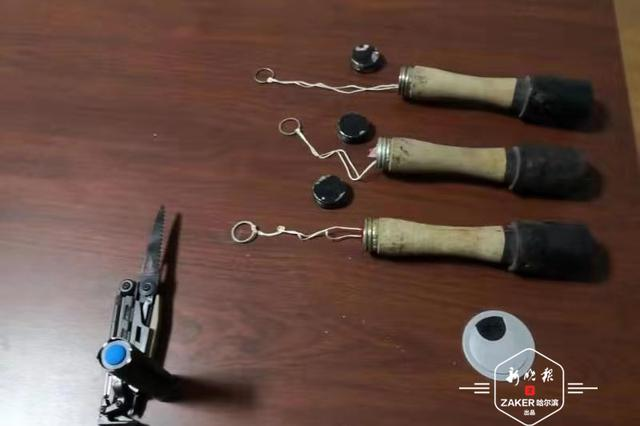 哈尔滨拾荒老人捡到三枚手榴弹