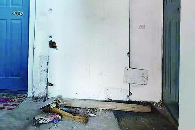 哈市保障华庭小区居民反映 出门被板子砸头踩空后摔骨折
