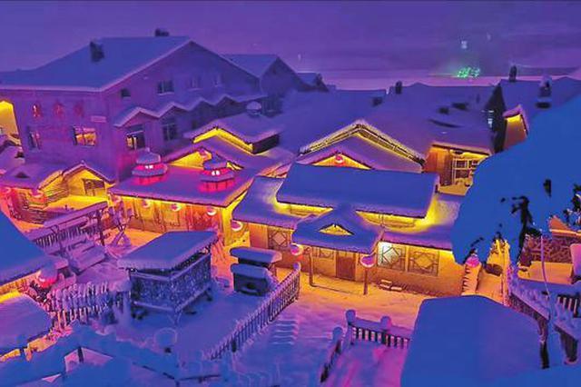 雪乡景区11月15日正式开园迎宾 连降瑞雪美景初步形成