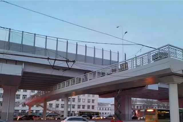 哈市主城区5座人行过街天桥11月底投用 过马路不怕啦
