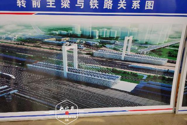 哈尔滨首座转体桥梁开始球铰转盘安装 明年6月底通车