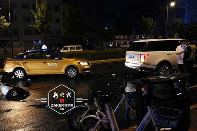 路虎撞翻出租车 的哥不幸当场身亡 事发南岗中兴大道