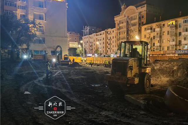 哈尔滨地铁3号线友谊路4座车站围护结构年底完工