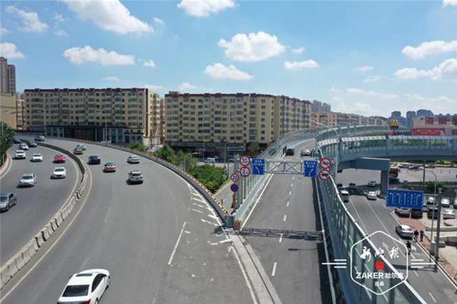 哈尔滨市安阳路支线桥全线通车 去哈西至少节省15分钟