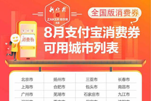 8月1日至8月8日 哈尔滨市民可每天领18元消费券
