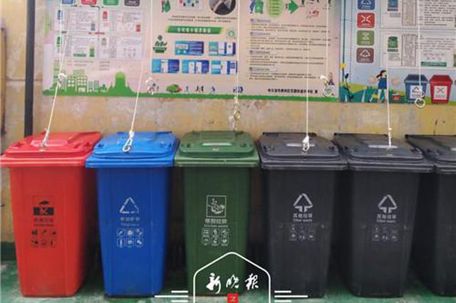 妙!哈市南岗区分类垃圾桶盖上装吊环 小改造带来大方便