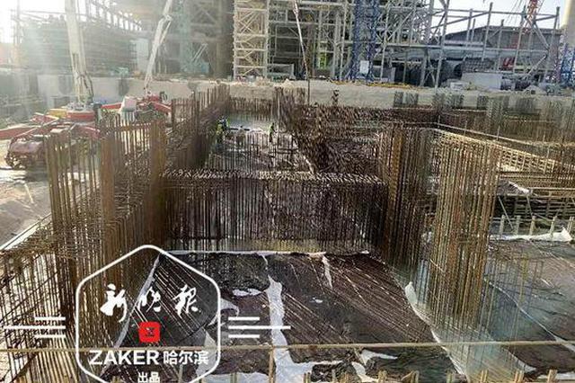 冰城企业承建的迪拜电站项目混凝土浇筑完成