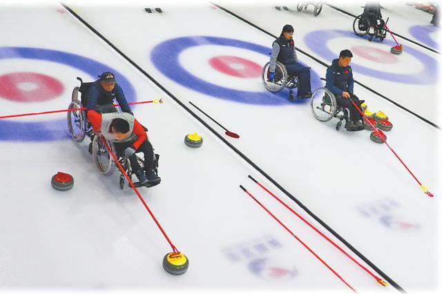 国家轮椅冰壶队 在哈尔滨备战冬季残奥会