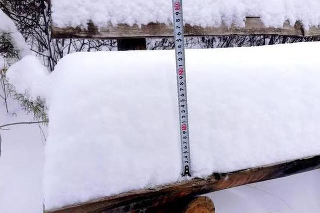 """秒入童话世界 """"中国最冷小镇""""迎10年来同期最大降雪"""