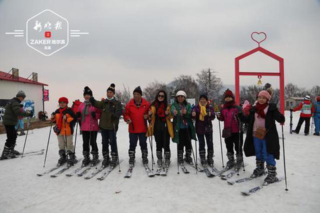 到亚布力滑雪 外地游客玩嗨了