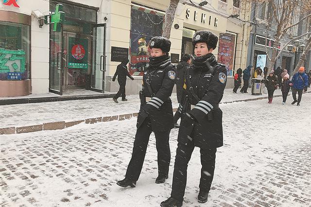 哈尔滨市道里公安分局 女子巡逻辅警大队节前加强防控