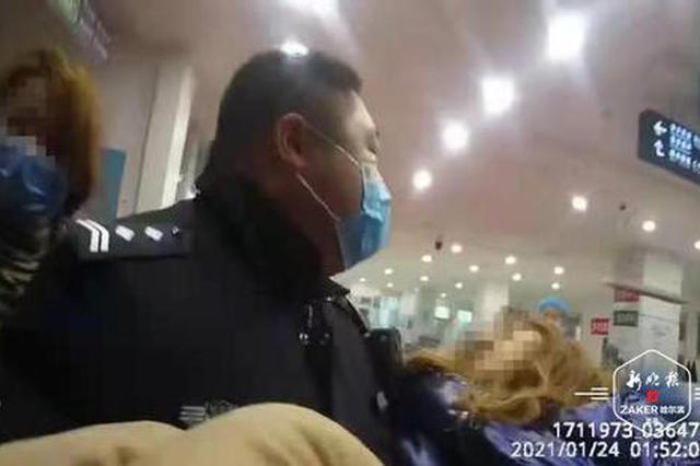 """女孩割腕喝药寻短见 民警紧急出动上演""""生死救援"""""""
