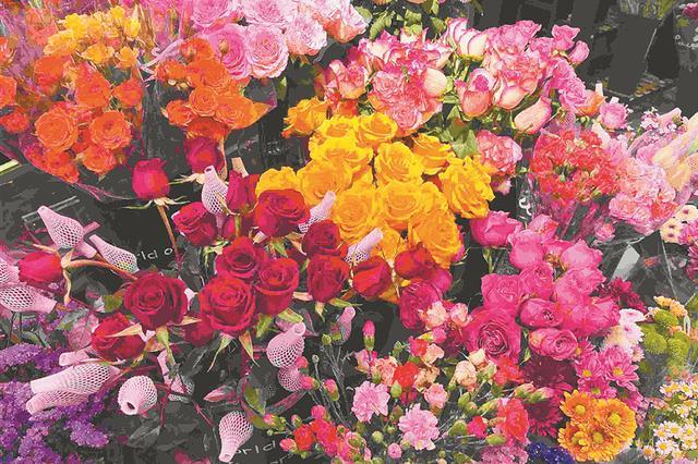 走访冰城鲜切花市场 小众花卉风头盛 价格略比往年升