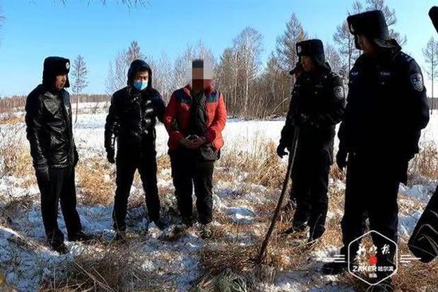 """非法狩猎后将枪托人保管被""""雪藏"""" """"一传俩""""后3人被拘"""