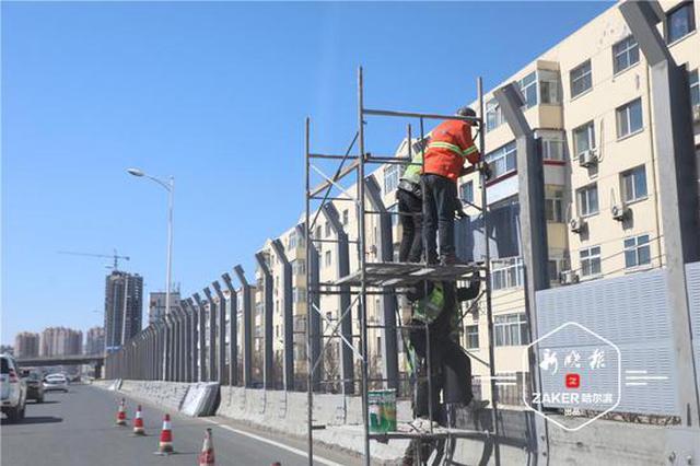 二环桥公滨路段安装隔音屏,有效降低噪声污染