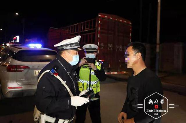 大货车闯红灯,驶照被降型!14日晚37台违法大货被查处