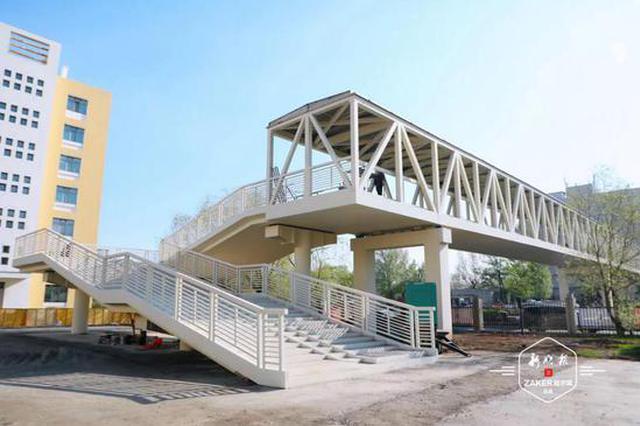 5月末竣工!征仪路上将新增一座人行天桥