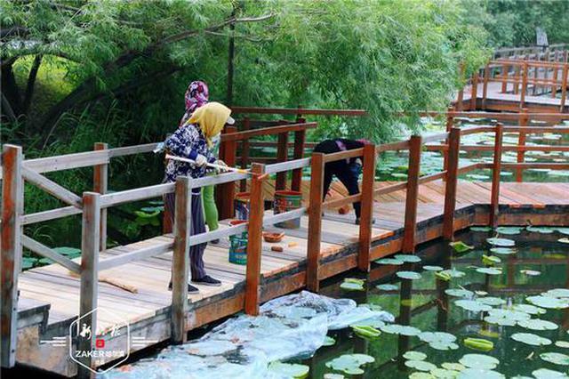 盛夏将至,雨阳公园维修设施待游客