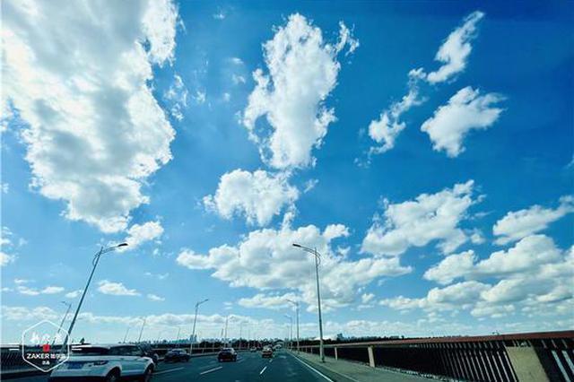 白云朵朵!雨后的冰城空气格外清新