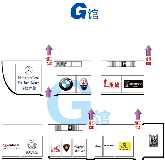 哈尔滨国际车展展位图-G馆