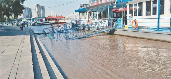 松花江干流哈尔滨站 低于警戒水位0.06米