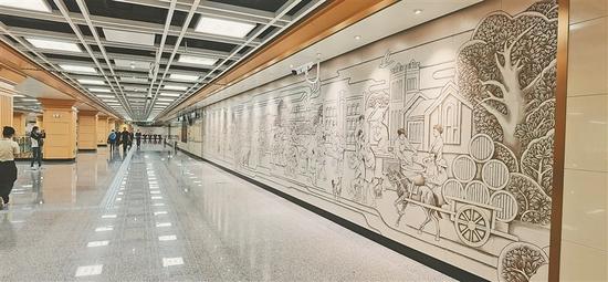 哈尔滨地铁2号线将开通 省政府站、珠江路站亮相