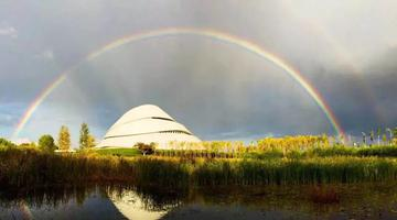 疾雨过后 最美双彩虹刷屏哈尔滨朋友圈