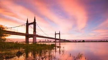 哈尔滨火烧云美景