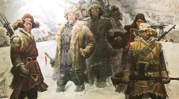 《东北抗联西征》油画