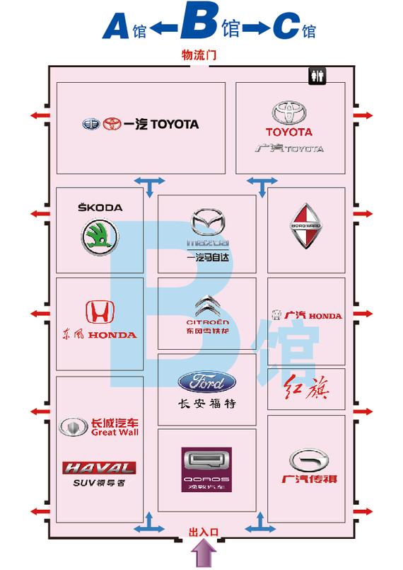 哈尔滨国际车展展位图-B