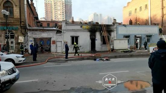 哈尔滨市道里区一处房屋发生火灾