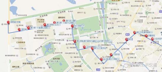 图中红色的是线路站点