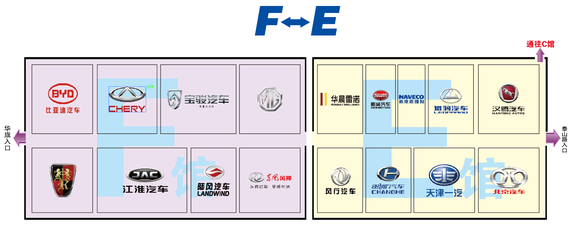 哈尔滨国际车展展位图-F-E馆