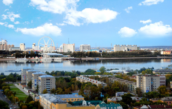 中俄双子城黑河市和布拉戈维申斯克市