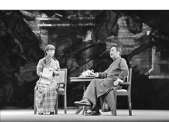 齐齐哈尔市话剧团排演的《萧红》话剧剧照。