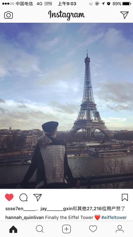 昆凌更新社交平台重返巴黎