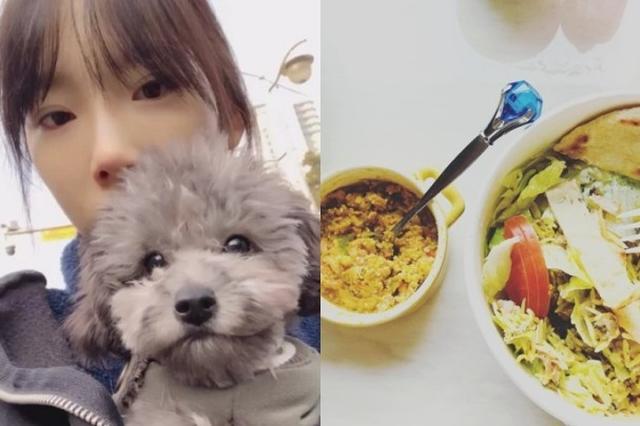 和爱犬同进食 少时泰妍误吃狗粮十足可爱