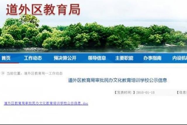 哈尔滨道外教育局6个检查组专盯黑补习班 附举报电话