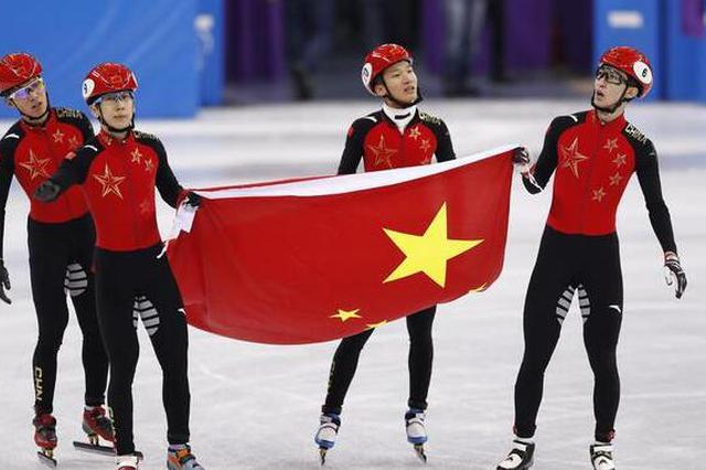 冬奥会中国男子接力摘得银牌 匈牙利夺冠破纪录