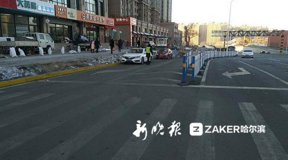 哈尔滨职工街地道桥新通车路段及辅路严禁停车